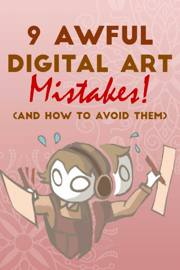 digital art mistakes
